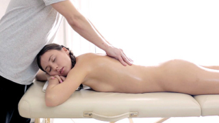 Adorable Lesya Rides The Massage Therapists Hard Cock On The Massage Table.