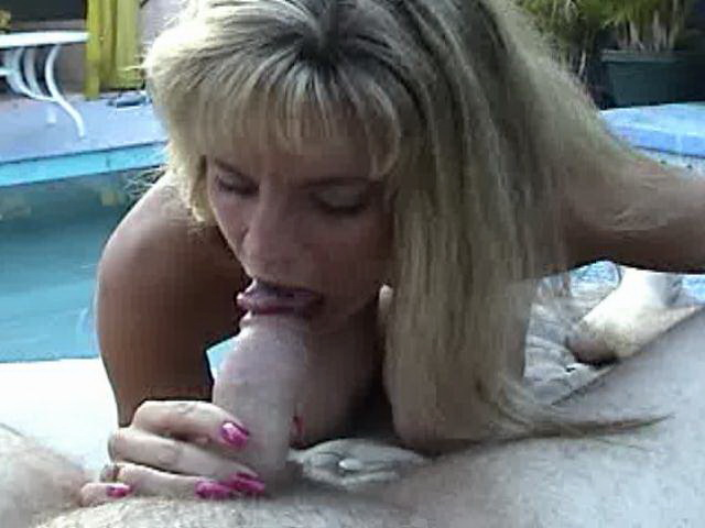 Amazing amateur blonde babe Ashly Shy sucking a hard penis in POV style outdoors