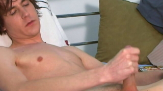 Amazingly Brunette Gay Ashley Stripping Jeans And Masturbating His Big Pecker