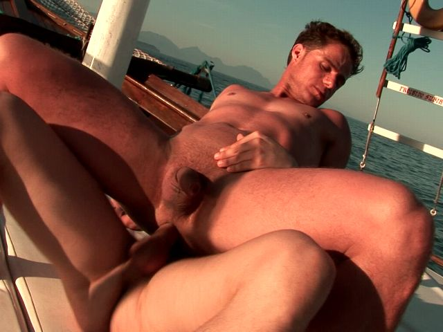 Amazingly gays Arcanjo And Eduardo fucking their sexy tight assholes on a boat