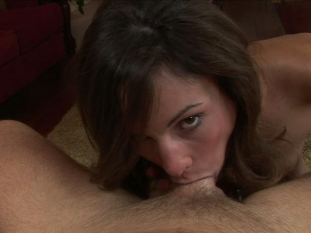 Amber Rayne puts whole cock in her mouth and sucks it Glamour Blowjobs XXX Porn Tube Video Image