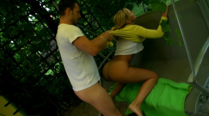 Anal gang bang in the garden. 18 Virgin Sex XXX Porn Tube Video Image