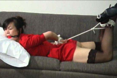 Asian amateur babe in bondage