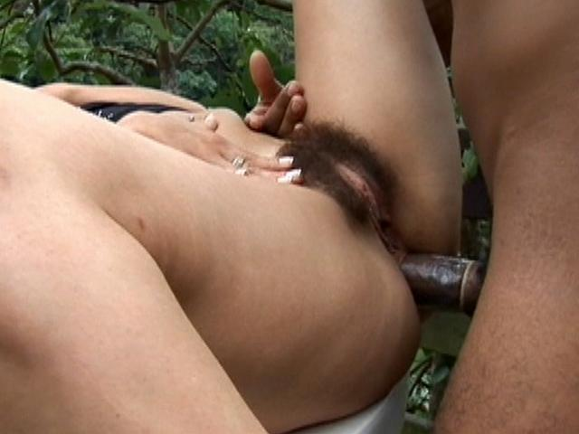 Attractive Babe With Hairy Pussy Tais Gets Tight Asshole Nailed Outdoors Only Bush XXX Porn Tube Video Image
