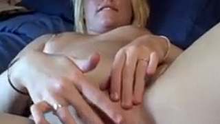 Banned video of amateur girlfriend toying her pussy with rabbit dildo