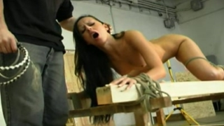 BDSM Tit whipping