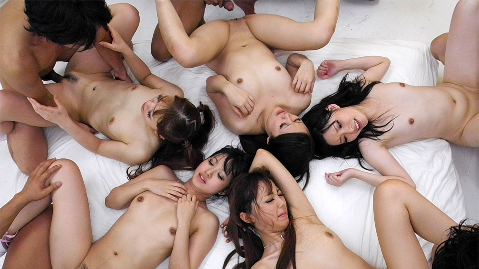Beautiful Asian girls having a nasty orgy JapanHDV XXX Porn Tube Video Image