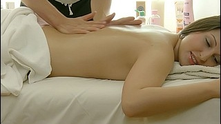 Beautiful Teenager Gets Massaged