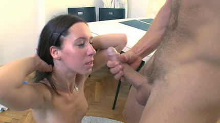 Betty is a young beautiful woman who on her knees gives her man a slow and sexu blowjob.