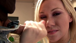 Bewitching Blond Exgirlfriend Sammy Giving Handjob And Blowjob On The Camera