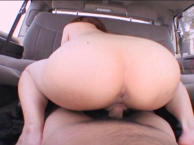 Big assed japanese slut Megumi Kato fucking a big dick on the backseat