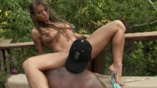 Big Breasted White Pornstar Rita Faltoyano Gets Succulent Snatch Licked By A Black Hunk Outdoors