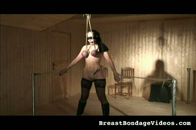 Blindfolding the Slave Breast Bondage Videos XXX Porn Tube Video Image