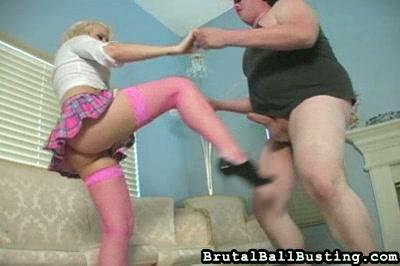 Blond Ballbusting