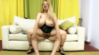 Blonde BBW With Big Tits