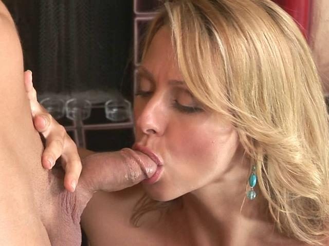 Blonde Briana Beach turns this dick on and makes it ready for her pussy