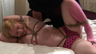 Blonde loves breast bondage