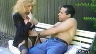 Blonde Older Gal Exposes Her Big Tits