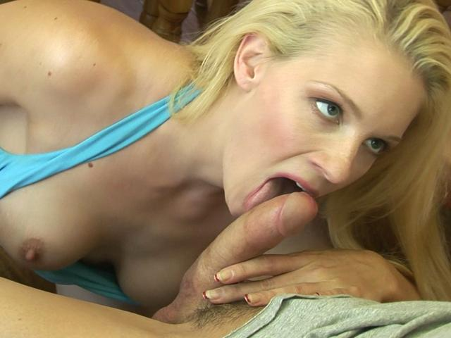 Blonde pornstar Heidi Johnny sucks this rock hard dick and turns it on Gogo Pornstars XXX Porn Tube Video Image