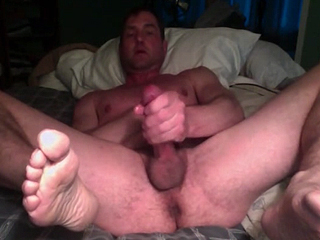 Boyfriend shows his big cock on webcam