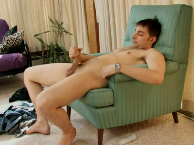 Brown haired horny gay Walley jerking off his massive schlong Gay Sex Exposed XXX Porn Tube Video Image