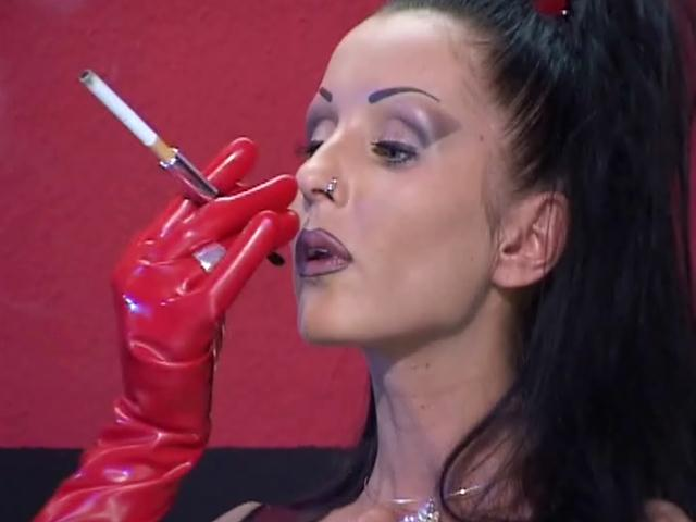 Brunette mistress in latex clothes Vaneckova Zadlo smoking Dungeon Masters XXX Porn Tube Video Image