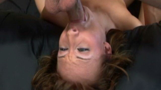 Brunette pornochick Sierra Sinn gets fucked deep in her throat
