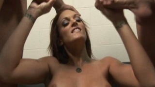 Brunette Pornstar Monica Mayhem Jerks Off These Two Hard Dicks