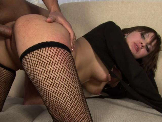 Busty Brunette Babe In Fishnets Gets Wet Muff Fucked Doggy Style Totally Brunette XXX Porn Tube Video Image