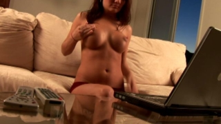 Busty brunette exgirlfriend slut Kate gets dirty on web cam