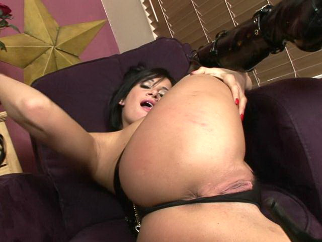 Busty brunette pornstar in boots Tory Lane masturbating her slick beaver