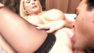 Busty Mature Blonde Offers Her Snatch