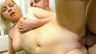 Busty Teen Can't Stop Cumming