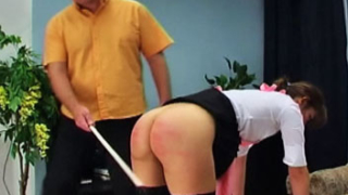 Caning The Maid