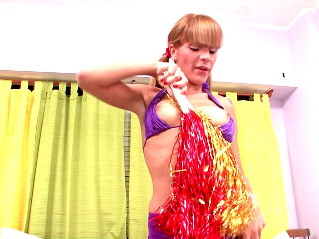 Cheeky Shemale Cheerleader In Pigtails Melina Dancing And Showing Her Assets Planet Of Shemales XXX Porn Tube Video Image