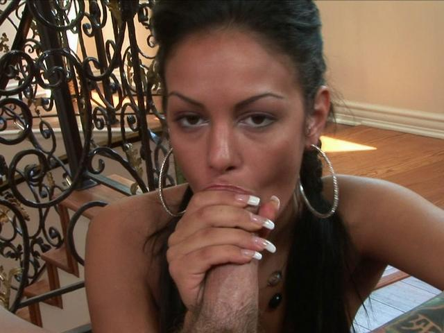 Classy Angelina Valentine takes off her clothes and gently sucks this prick Glamour Blowjobs XXX Porn Tube Video Image