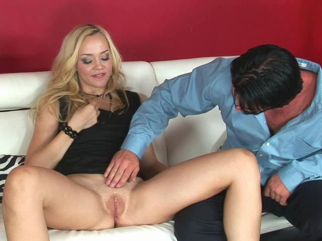 Classy blonde chick Annette Schwarz gets fucked by her new friend