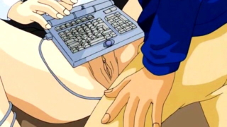 Computer Nerd Plays With His Hentai Girlfriend