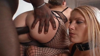 Corrupting White Bitches Gabriella And Katya Sucking And Fucking A Massive Black Shaft