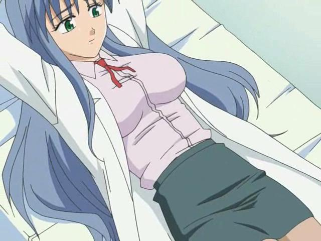 Cute anime nurse getting undressed by a horny doctor