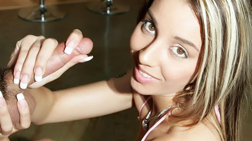 Cute Brunette Sizes Up Our Meat Sinful Handjobs XXX Porn Tube Video Image