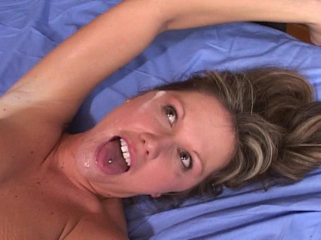 Delicious bitch Kelly getting mouth cum filled by a giant penis