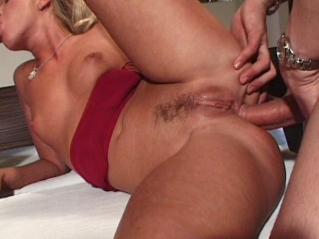 Delicious blondie tramp gets anally fucked while she gives blowjob Anal Tryouts XXX Porn Tube Video Image