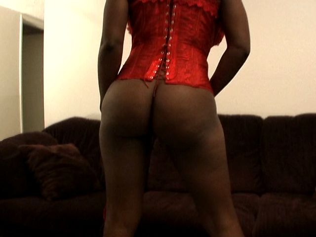Delicious young black girlfriend Berlin gives blowjob and titjob on the couch