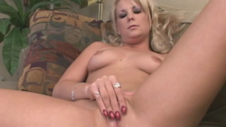 Elegant Blonde Temptress Elizabeth Del Mar Spreading Legs And Rubbing Her Sweet Pink Pussy