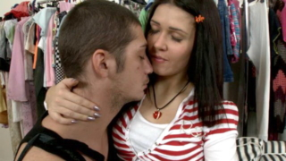 Enticing Brunette Slovak Teen Babe Betsy Gets Eye-folded And Plays With A Horny Stud