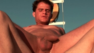 Excited brunette gay Arcanjo riding anally Eduardo's monster shaft on a boat