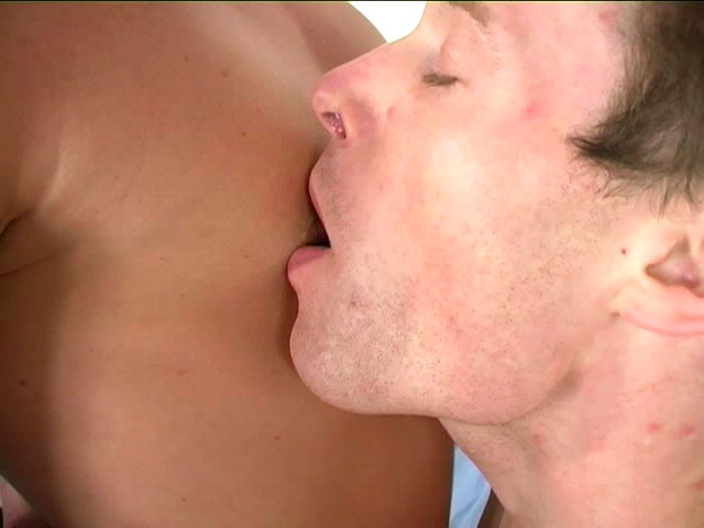 Excited gay Dennis getting nipples licked and ass fucked by horny Dave