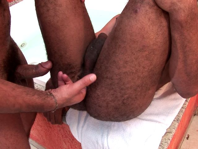 Exotic dark skinned amateur gays Dennys And Douglas fingering and screwing their sexy butts in bathroom