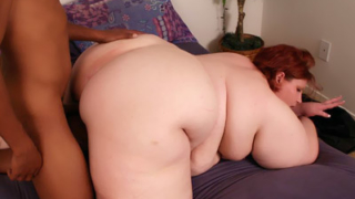 Fat Ass BBW Does Interracial